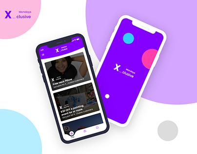 Xclusive Monday Mobile App design