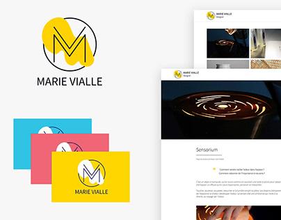 Branding & Website - Marie Vialle, Designer