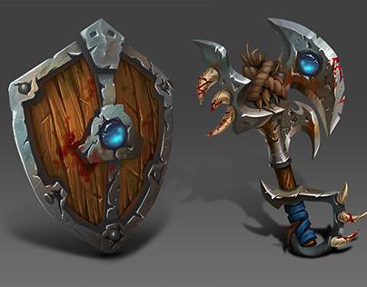 Shield & axe
