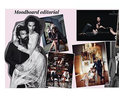 Mood Board for fashion editoarial Photo shoot