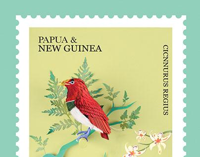 new guinea bird postage stamp.