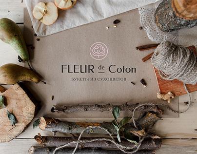 Dried flowers logo. Fleur de Caton