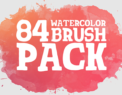 84 Watercolor & Brush Pack