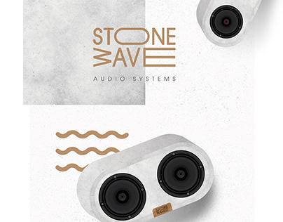 Stone Wave audio sistems logo and identity