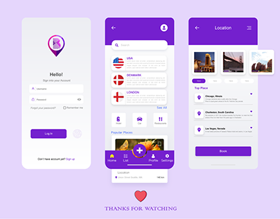 Travelers App UI for Android