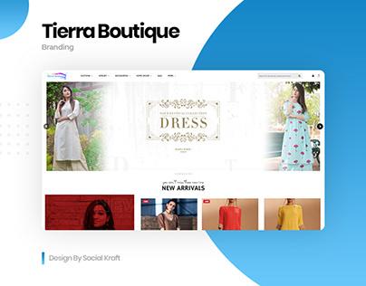 Women's Online Boutique & Clothes Website Design, UIUX