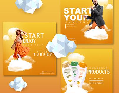 Social Media Designs for Tourism Company