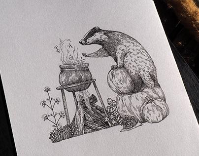 "Illustrations ""Magic Forest"""