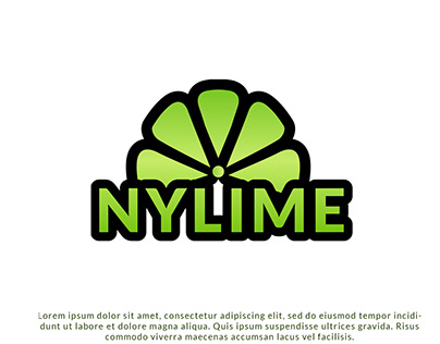 Nylime lemon Logo Design