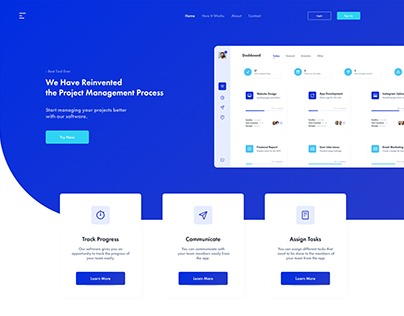 Project Management Software Website UI/ UX Design