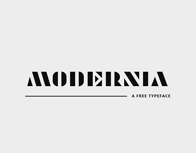 Modernia Free Font / Typeface