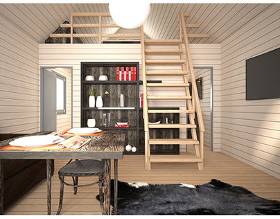 Wooden House Visualization