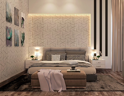Master Bedroom Design and Visualization in Cairo