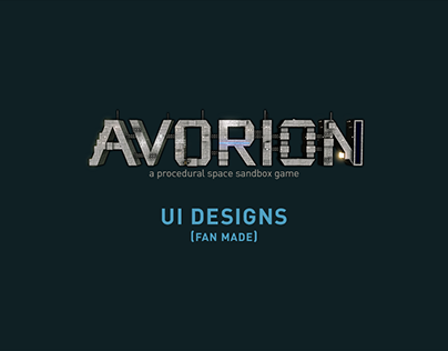 Avorion UI Designs (Fan Made)