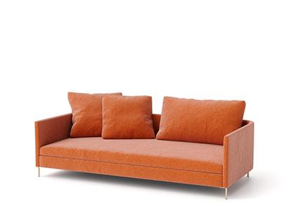 Sofa #06   C4d+Corona   3d Model