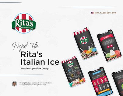 """""""Rita's Ice"""" Mobile App UI/UX Design"""