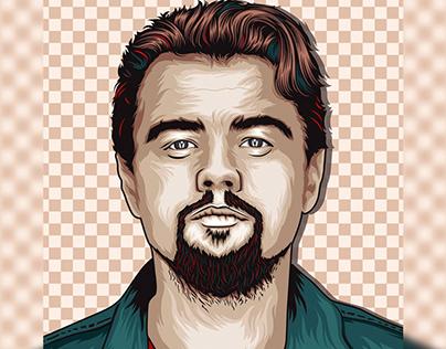 Leonardo DiCaprio portrait illustration