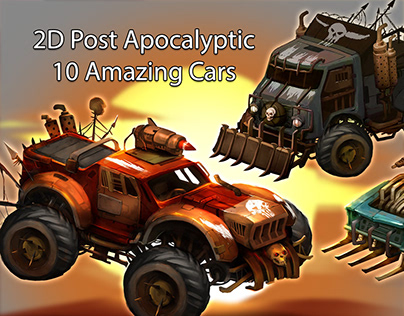 2D Post Apocalyptic Cars