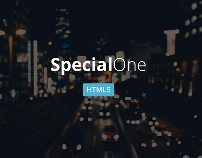 SpecialOne - Creative Html5 one page template