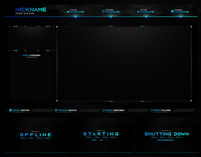 BEST TWITCH STREAM OVERLAY TEMPLATE 2019 DOWNLOAD