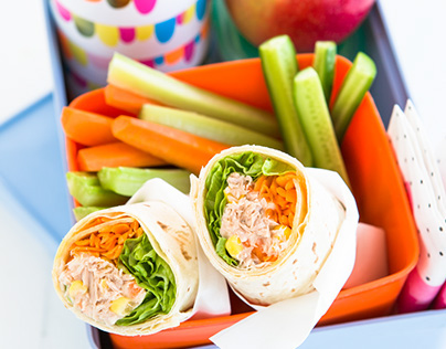 Photography and food styling for Wonder White Wraps
