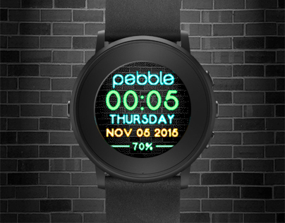 Brick Neon watchface for Pebble smartwatches