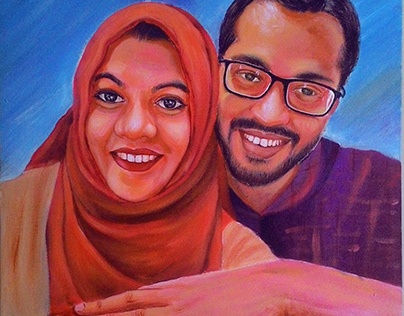 Portrait Gifts given at a friend's wedding!