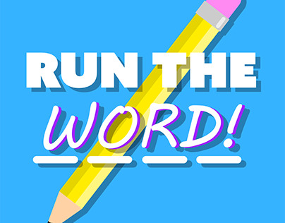 Game Title and Game Icon for ''Run the Word''