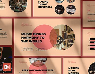 Music Production PowerPoint Presentation Template