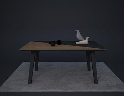 half coffee table