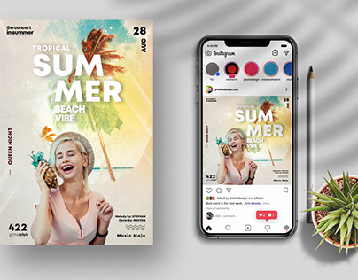 Summer Beach Vibe Flyer (PSD)