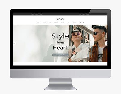 Design website clothing store