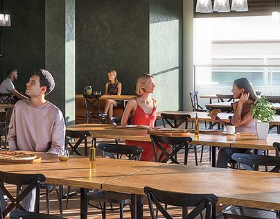 Restaurant Interior Visualization