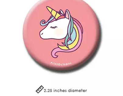 Unicorn Face Fridge Magnet