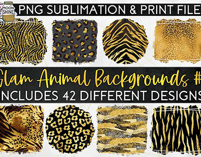 FREE Glam Animal Print Backgrounds