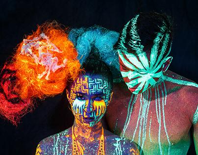 Avant Garde UV Photoshoot with Elice and Julian