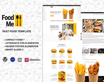 FoodMe - Fast Food & Restaurant WordPress Theme