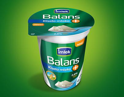 Imlek Balans+ Kiselo mleko | Packaging Design