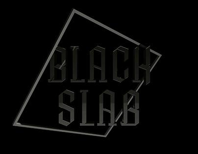 Black Slab font design