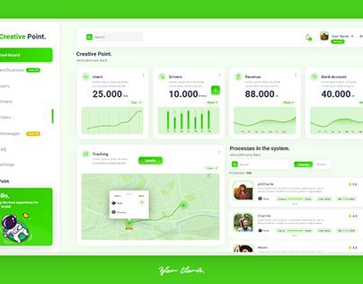 Green- Stylish- Dashboard