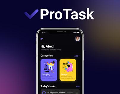 ProTask - Task manager app design