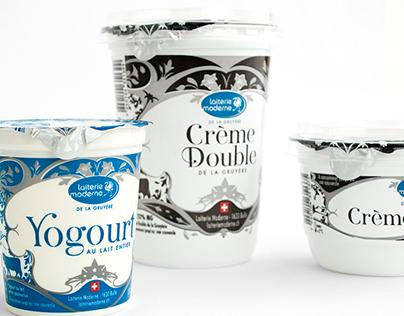 Yogurt and Heavy Swiss Cream Packaging