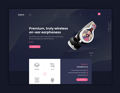 Beats Headphone | Website Design Concept