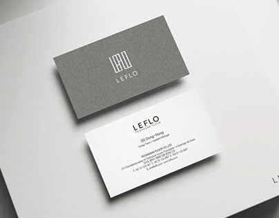 LEFLO Corporate identity Graphic design