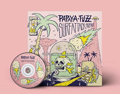 Papaya Fuzz vinyl design