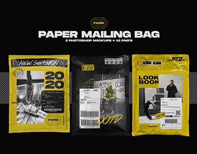 Paper Mailing Bag - Photoshop Mockups