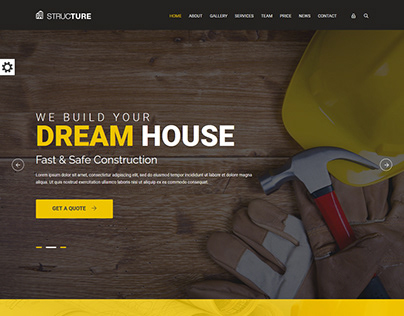 PSD to HTML Construction Bootstrap 4 Responsive Website