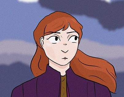 Anna (Frozen 2 fanart).