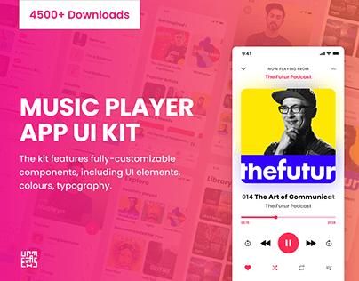 Free Music App UI Kit for Adobe XD