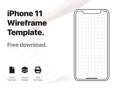iPhone 11 Wireframe Template